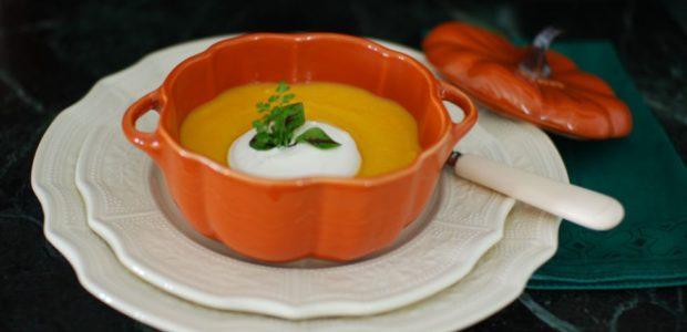 Crème de carotte, gingembre et crème de coco