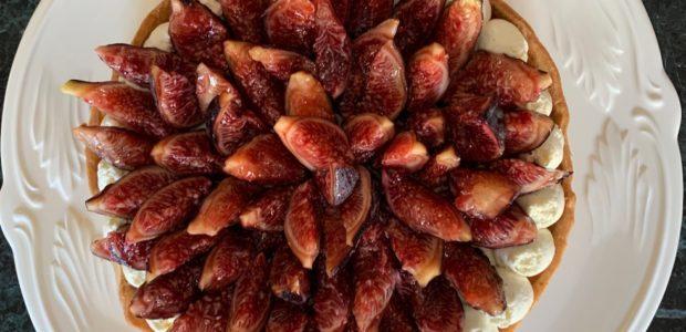 Tarte aux figues rouges, inspiration Cédric Grolet